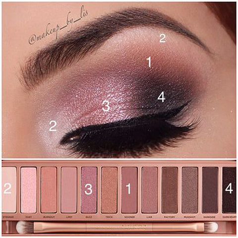 12 color eye shadow - girlyrose.com