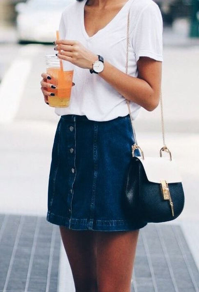 Denim & Supply Ralph Lauren Button-Front Denim Skirt