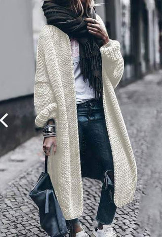 Cashmere Batwing Sleeve Knit Coat Fall/Winter - girlyrose.com