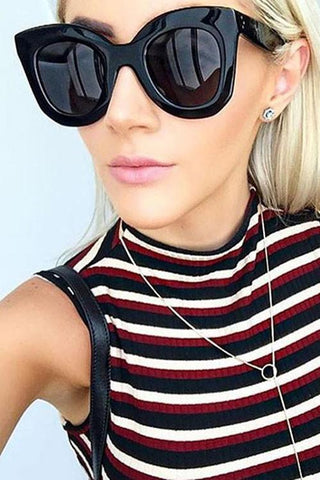 Cool Black Cat Eye Sunglasses - girlyrose.com