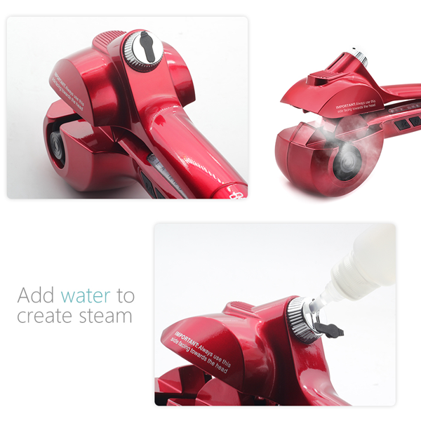 Ceramic Automatic Hair Curler with Steam - girlyrose.com