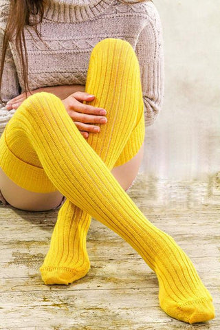 Cotton Over Knee Socks - girlyrose.com