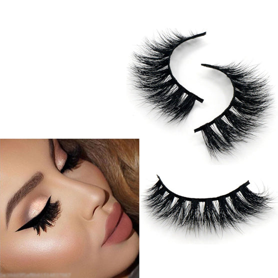 Reusable False Eyelashes 100% Siberian 3D Mink Fur Natural Short False Lashes - girlyrose.com
