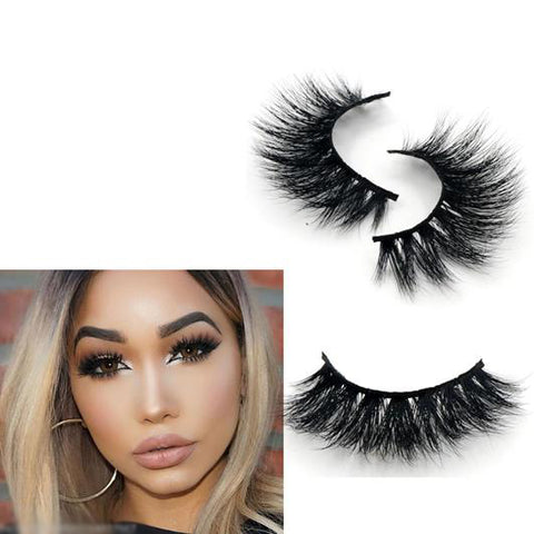 3D Mink Lashes 1pcs 100% Real Mink Lilly Monaco Lashes - girlyrose.com