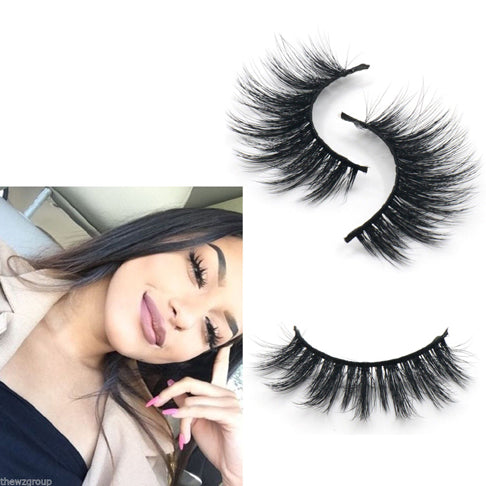 3D Synthetic False Eyelashes Long Strip Party Miami Lashes - girlyrose.com