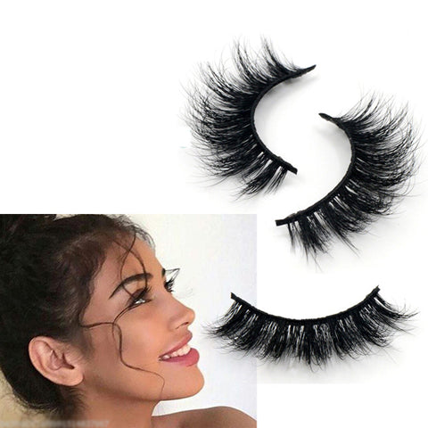 100% Real 3D Mink Strip Lashes - False Individual Eyelashes-Arison Lashes