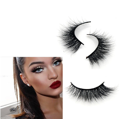 3D 100% Real Mink Fur False Eye Lashes Individual SiberiaN Mink Lashes - girlyrose.com