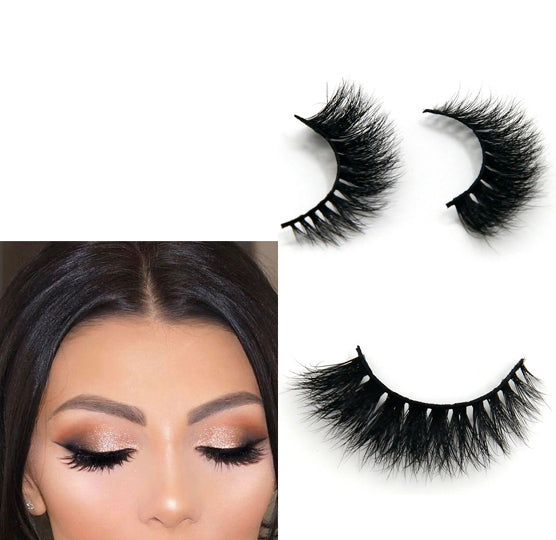 Arison Real 3D Mink Fur False Eyelashes Women's Makeup Natural Long Fake Lashes