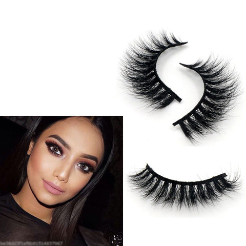 100% Real Mink Strip Lilly Lashes Makeup Natural Fluffy Soft Eyelashes - girlyrose.com