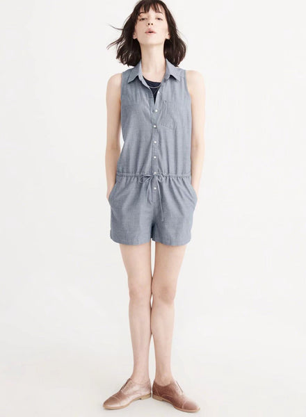Classic Turn-down collar Slim Jumpsuit - girlyrose.com