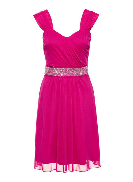 Elegant Sleeveless Sequins Cocktail Party Dress