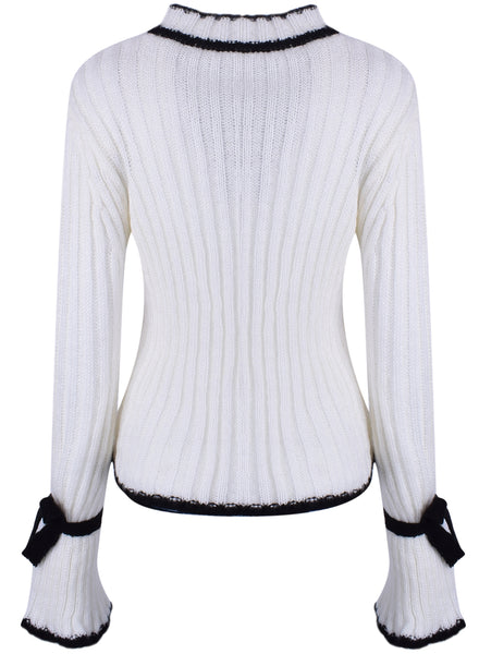 Fashion Flare Sleeve Pullover Loose Sweater