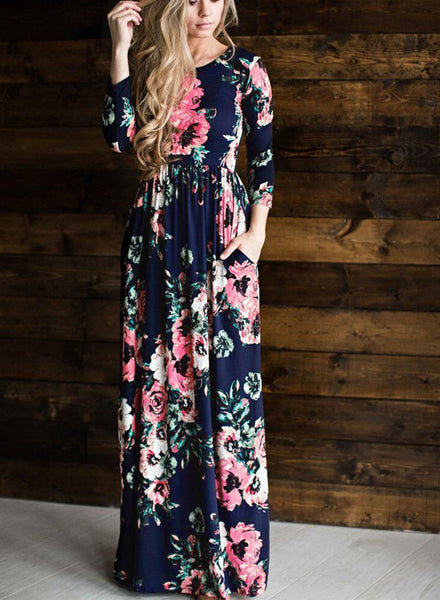 Classic rose maxi dress - girlyrose.com
