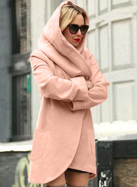 Loose Fit Design Woolen Fashion Hooded Coat
