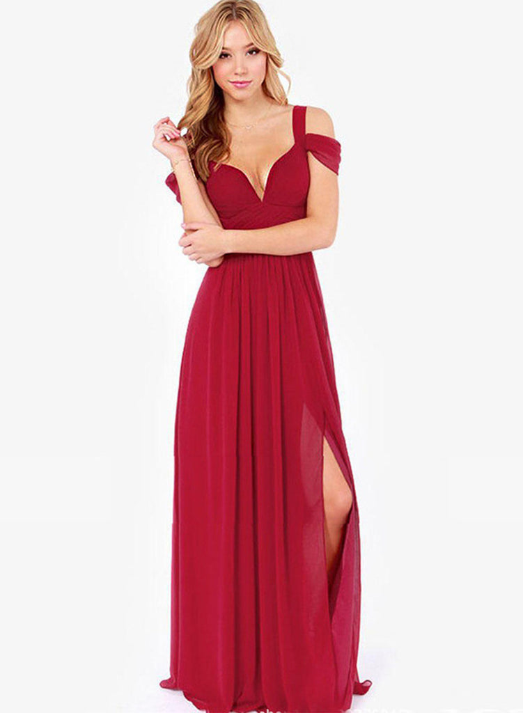 Sexy Off Shoulder Maxi Prom Dress