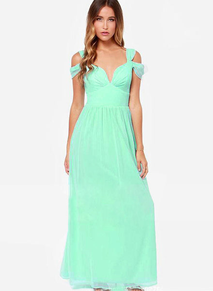 Sexy Off Shoulder Maxi Prom Dress - girlyrose.com
