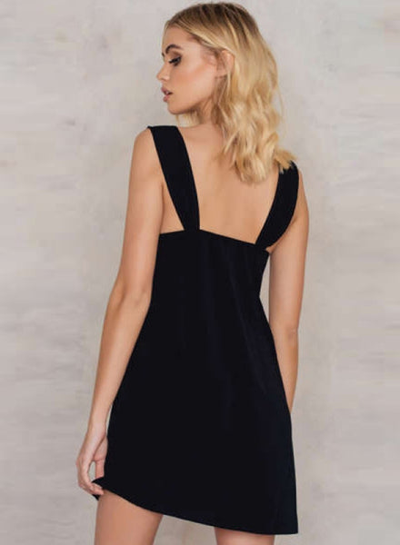 V Neck Sleeveless Party A-line Dress with Belt
