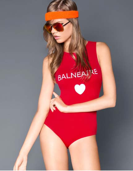 Chic red Backless One Piece Swimsuit