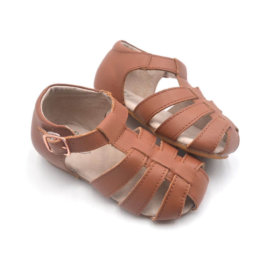Kids Shoes Australian summer sandals salt water sandals tan leather toddler