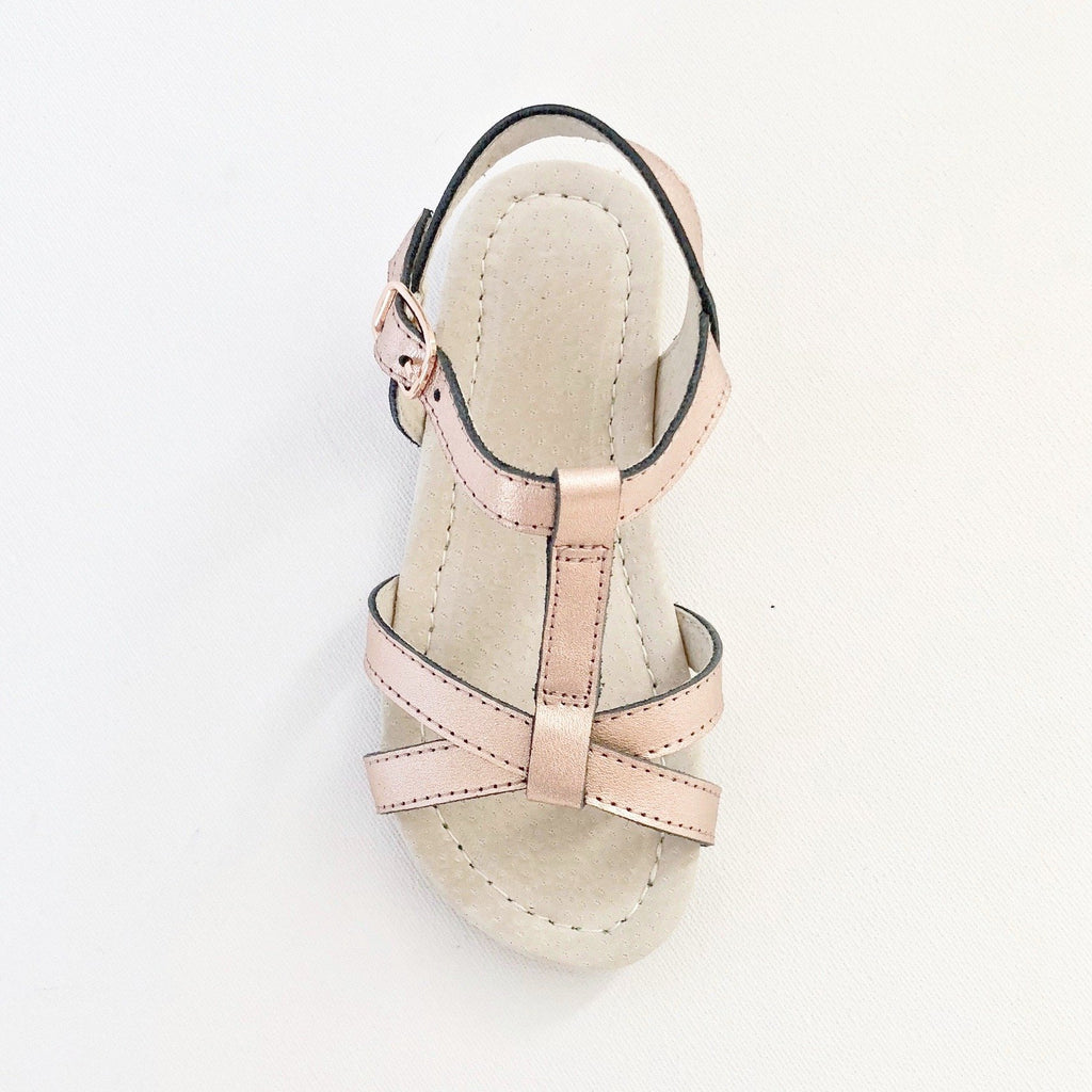 Rose Gold Kids Sandal with Buckle
