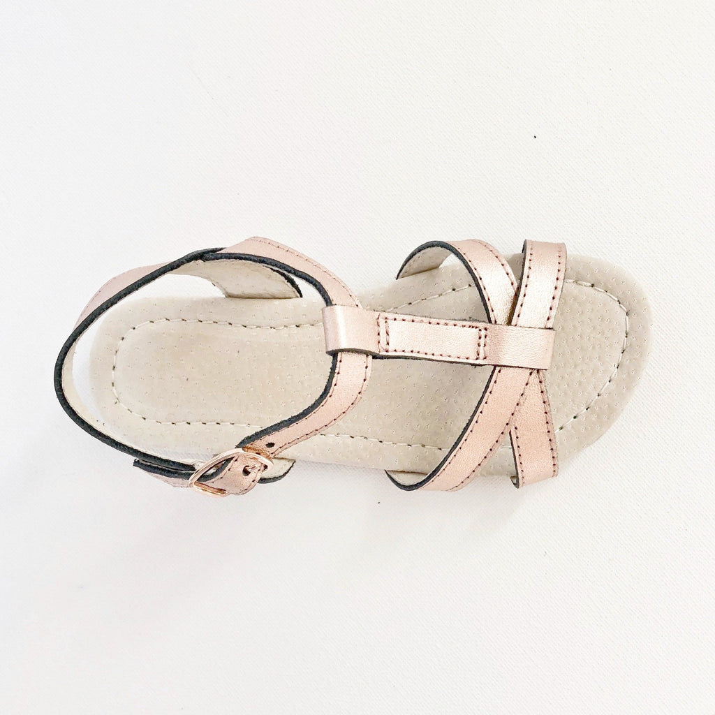 Leather Kids Sandals with Buckle