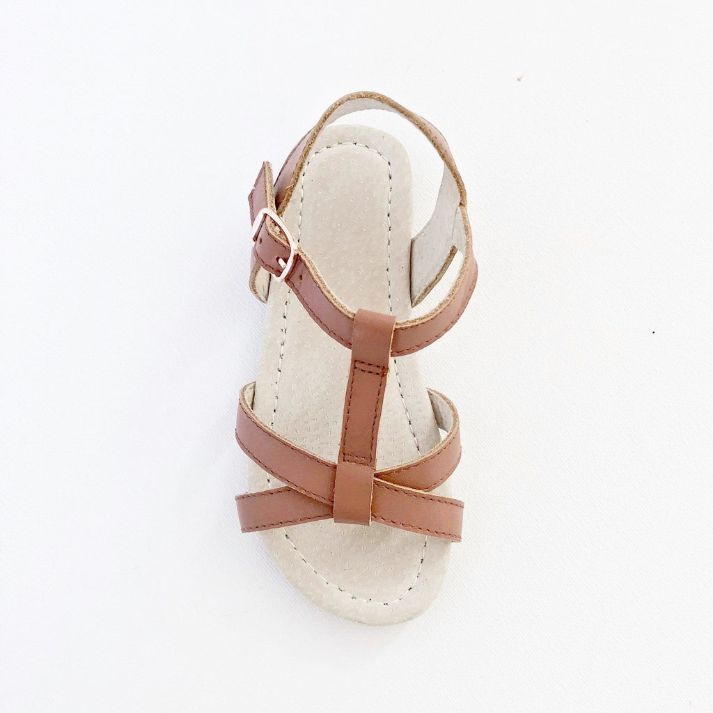 Kids Sandals Open Toe Leather Children's ShoesAustralian summer sandals salt water sandals tan Pink Rose gold  leather toddler