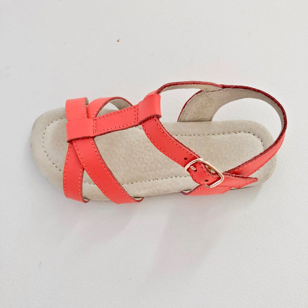 Coral Colour Kids Sandal with Buckle