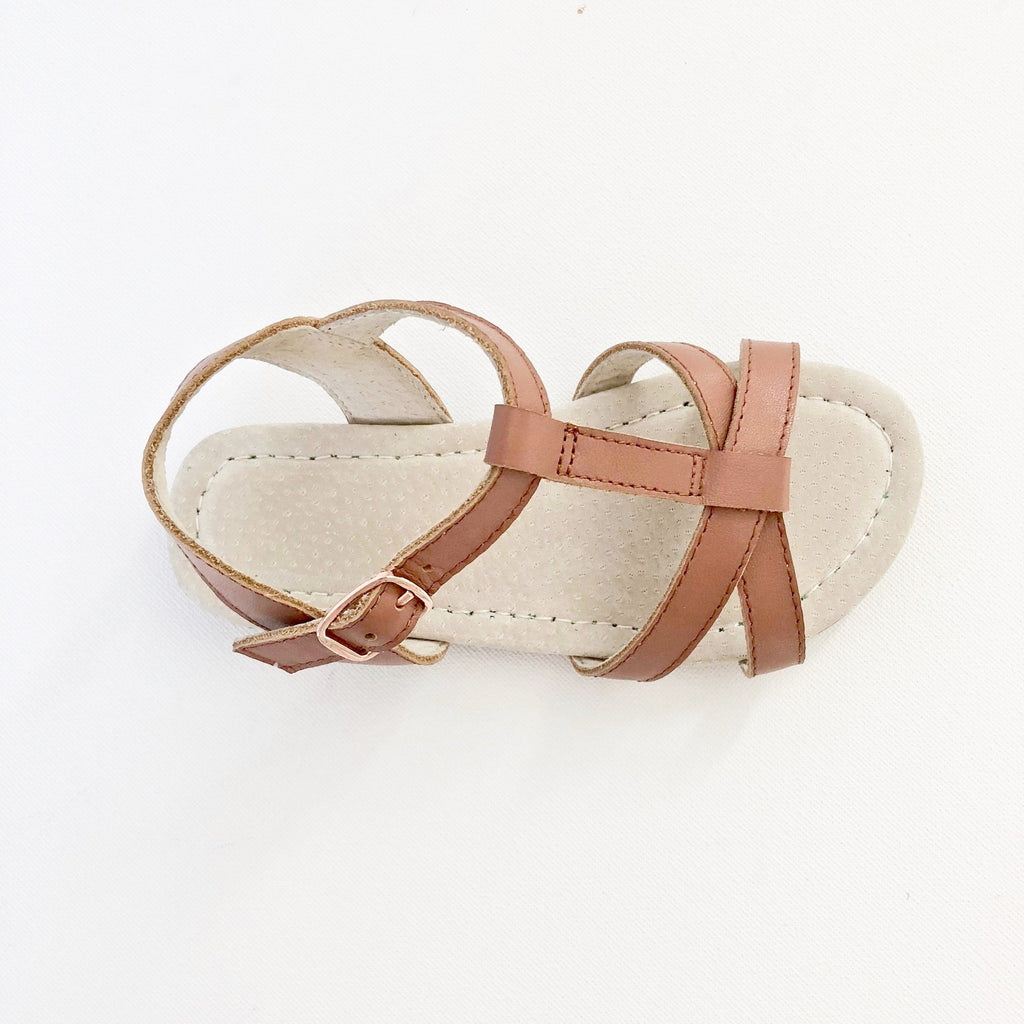 Salt water Sandals Kids Leather ShoesAustralian summer sandals salt water sandals tan Pink Rose gold  leather toddler