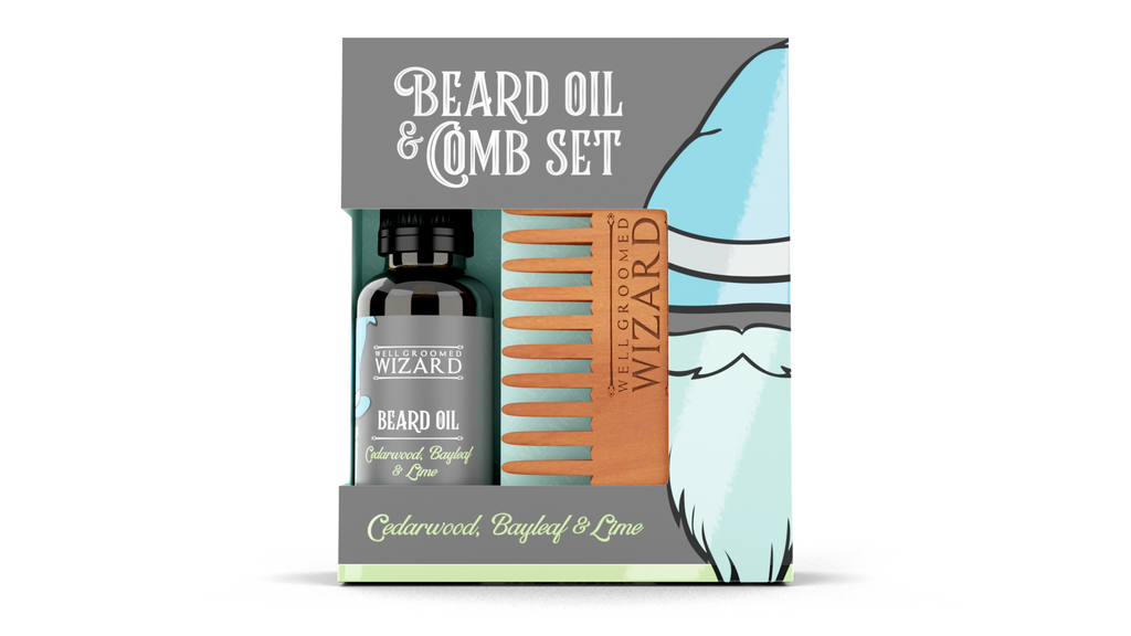 Beard Oil & Comb Gift Set