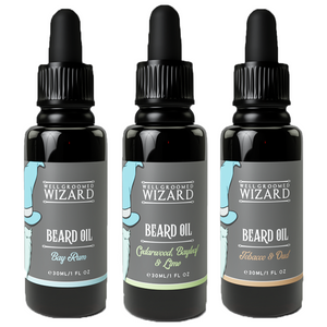 3 x 30ml Beard Oil Gift Set | Cedarwood, Bay Leaf and Lime + Tobacco & Oud + Bay Rum