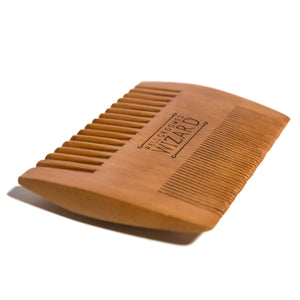 wooden double sided beard and moustache comb