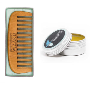 Beard Comb/Brush & Wax