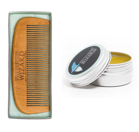 Beard Comb/Brush & Wax Bundle