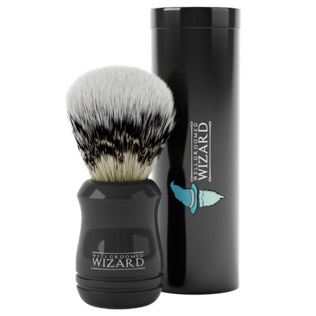 Synthetic Badger Hair Shaving Brush with Travel Case