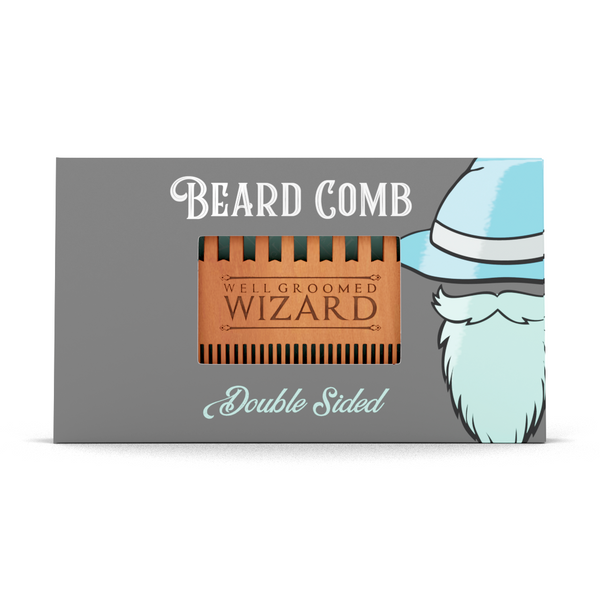 Double Sided Wooden Beard Comb