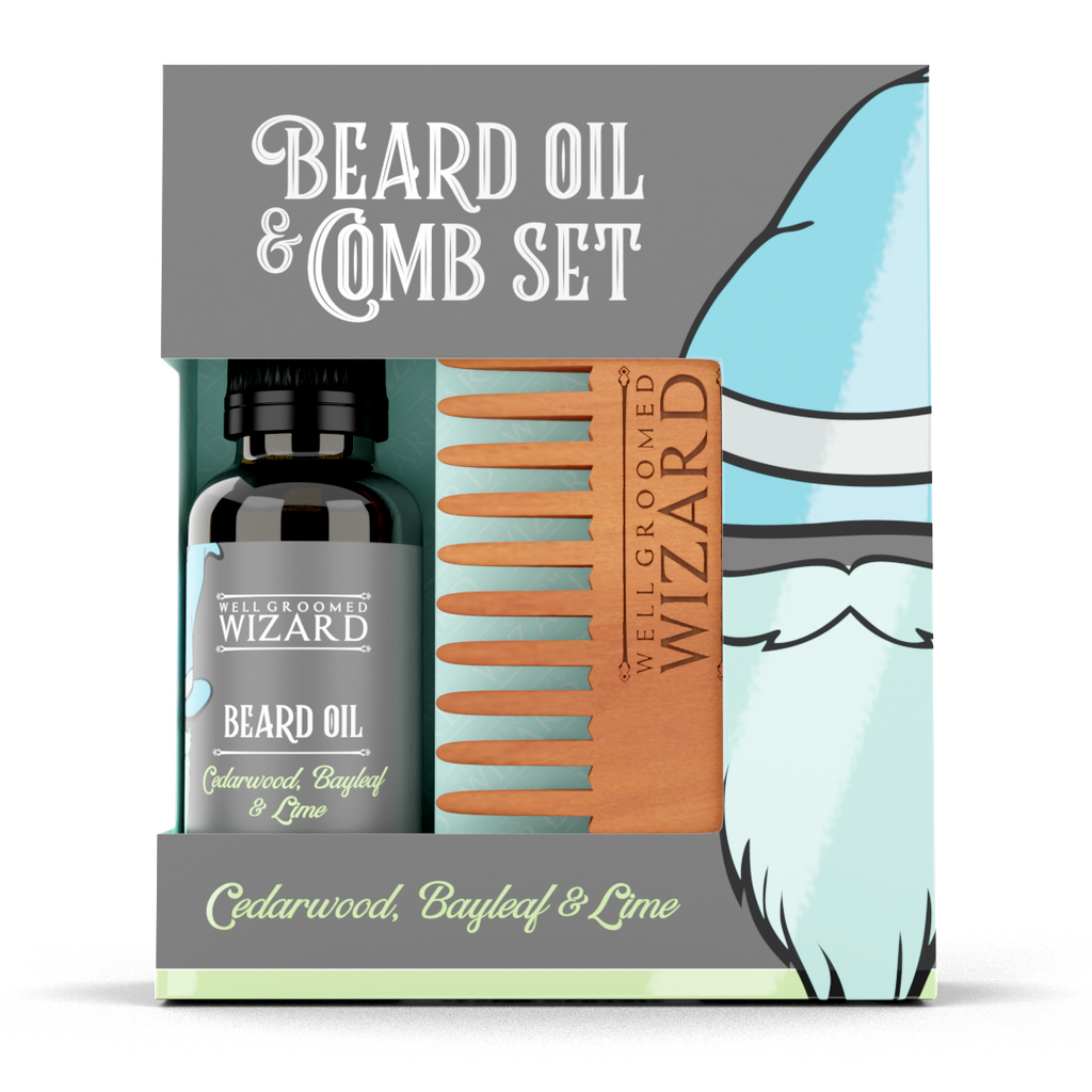 Beard Oil & Comb Set | Cedarwood, Bayleaf & Lime