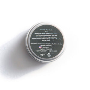 Strong Hold Beard Wax | Beeswax and Lemon | 15ml