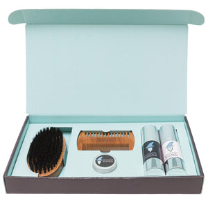 Beard Grooming Gift Box complete with Brush, Comb, Balm, Wax and choice of Beard Oils