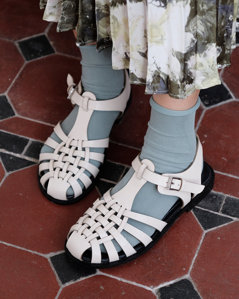 Round Toe Gladiator Sandals (2 color) (36~40)