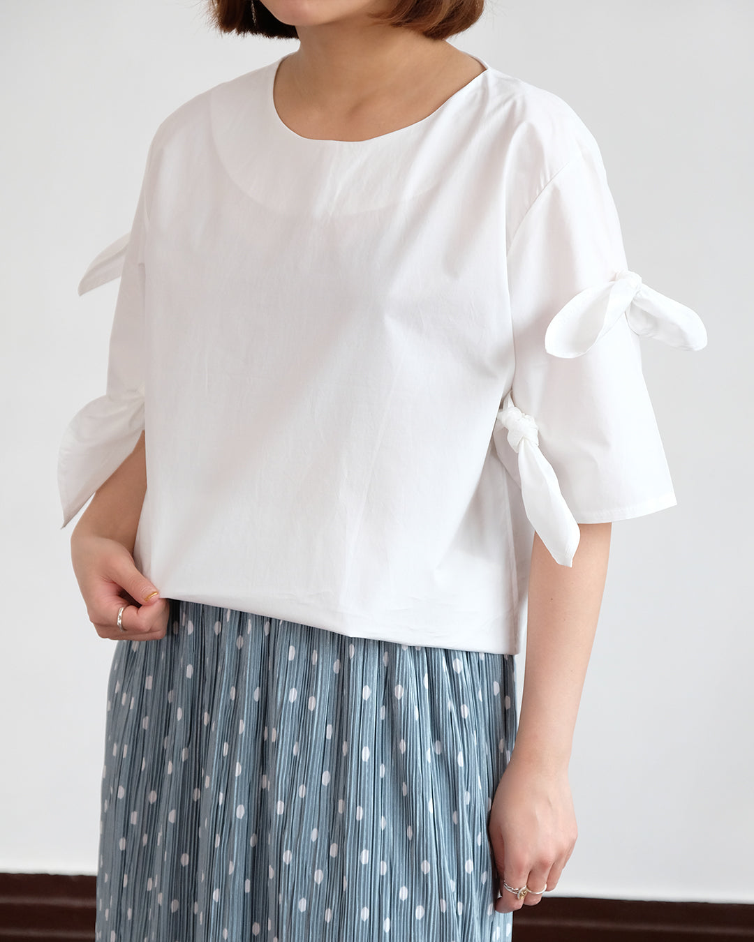 Ribbon Top (White)