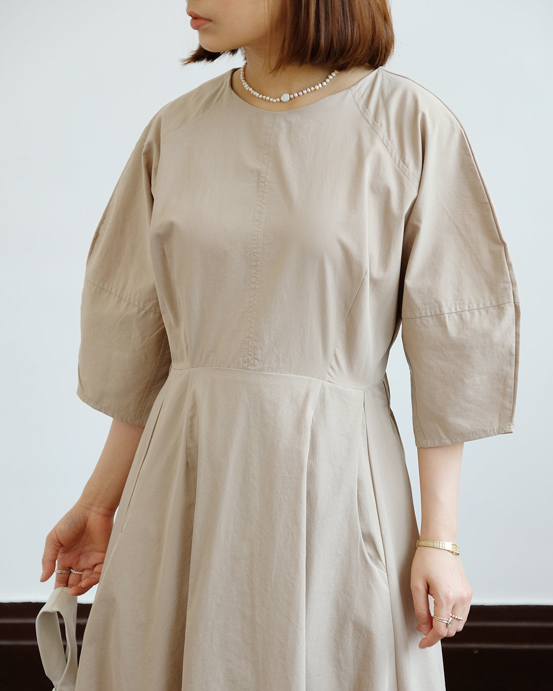 Dear Bubble Hem Dress (2 color)