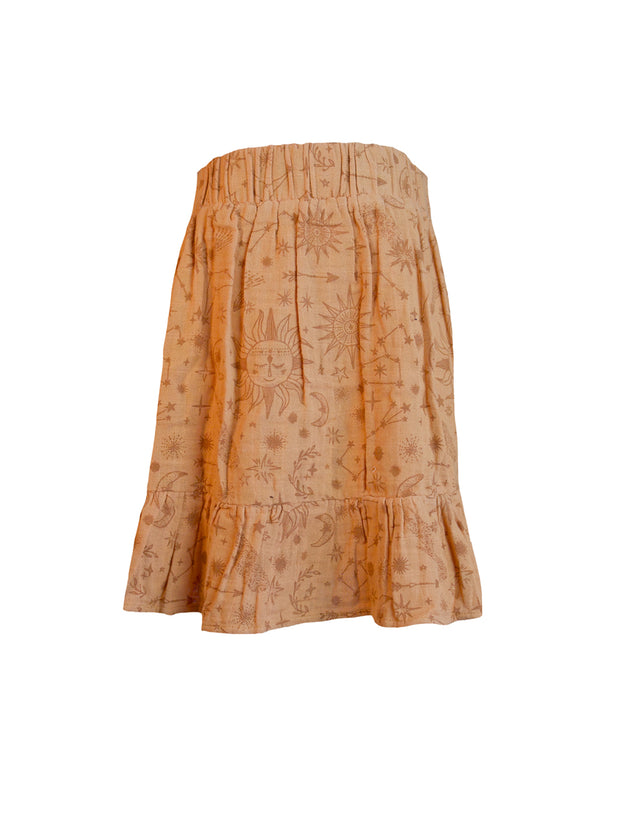Avini Midi Skirt - Terracotta constellation