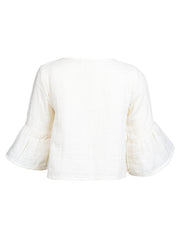 Arya Embroidered Top - Sand