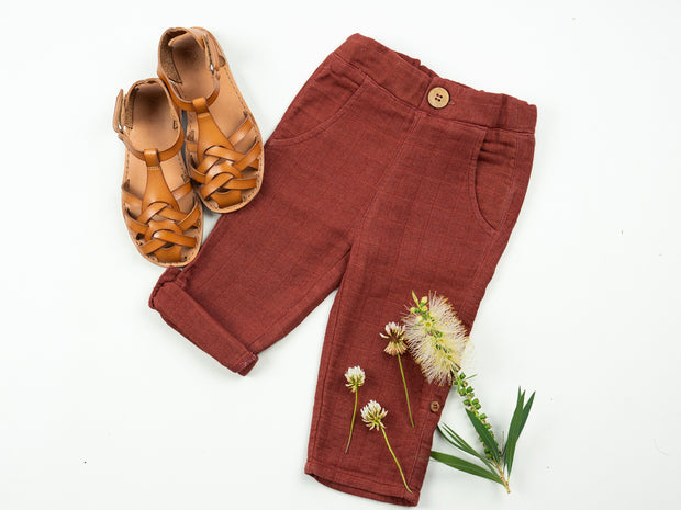 Raja Roll Up Pants - Rust