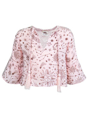 Arya Printed Top - Peony Constellation