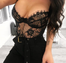 DAISY BLACK LACE BODYSUIT