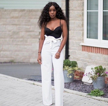 ISABELLA WHITE PAPERBAG HIGH WAISTED FLARE TROUSERS