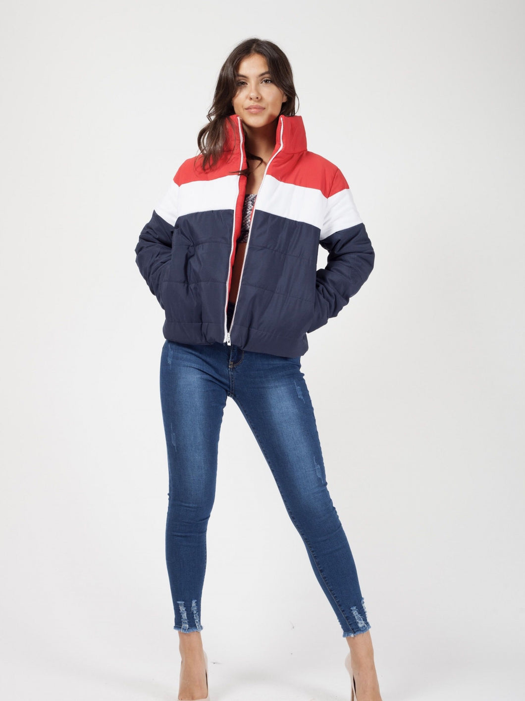 TIANNY NAVY PADDED PUFFER JACKET