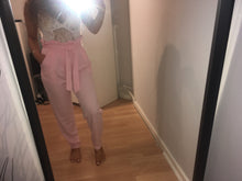 SIMONE BABY PINK PAPERBAG HIGH WAISTED TROUSERS