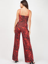 PAMELA RED LEOPARD PRINT LUREX CO-ORD SET